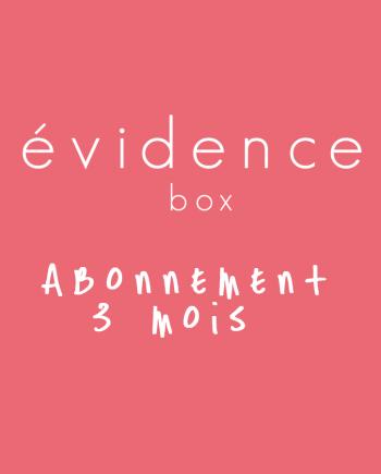 box evidence abonnement 3 mois