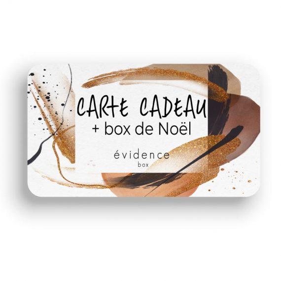 carte cadeau abonnement + box de noel
