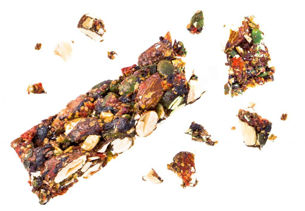 barre sans gluten et vegan bio aromandise a la rose et goji