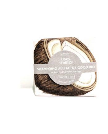 Shampoing au lait de Coco Bio- Cheveux secs- SAVON STORIES