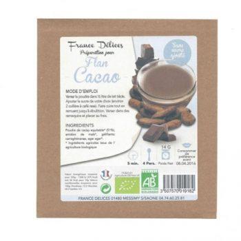 france delice flan chocolat sans sucre