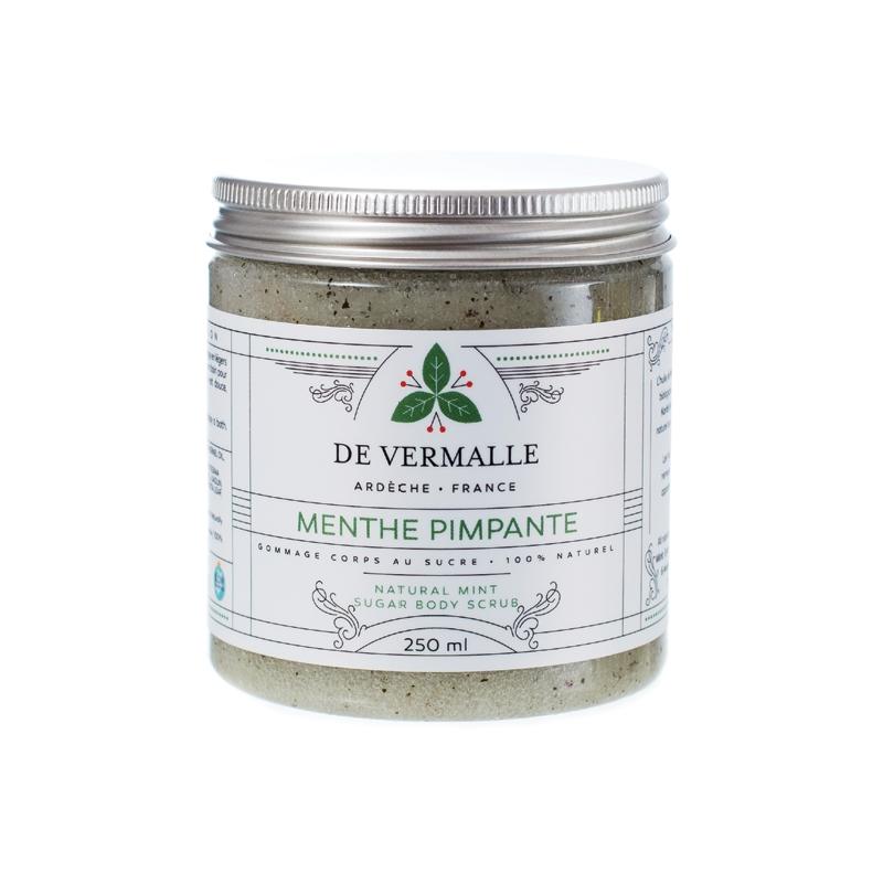 Gommage naturel au sucre MENTHE PIMPANTE - DE VERMALLE