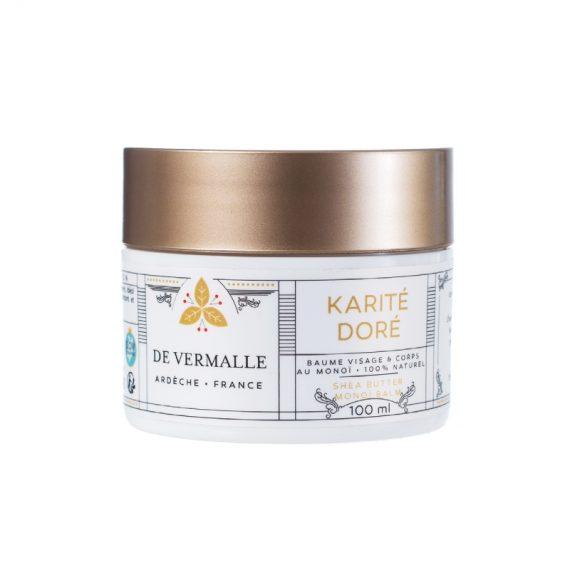 Baume Karité et Monoï KARITÉ DORÉ - DE VERMALLE