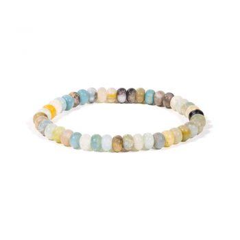 bracelet amazonite elastique
