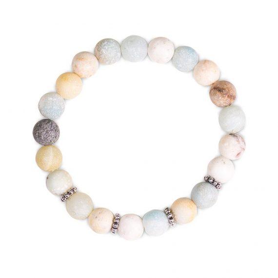 mala bracelet amazonite elastique