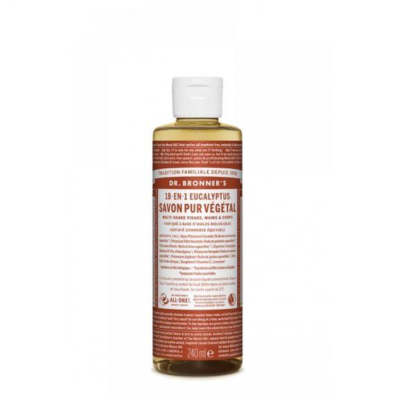savon pur vegetal 18en1 dr bronner eucalyptus