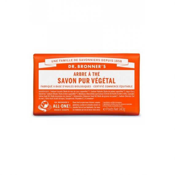 savon solide dr bronner arbre a the