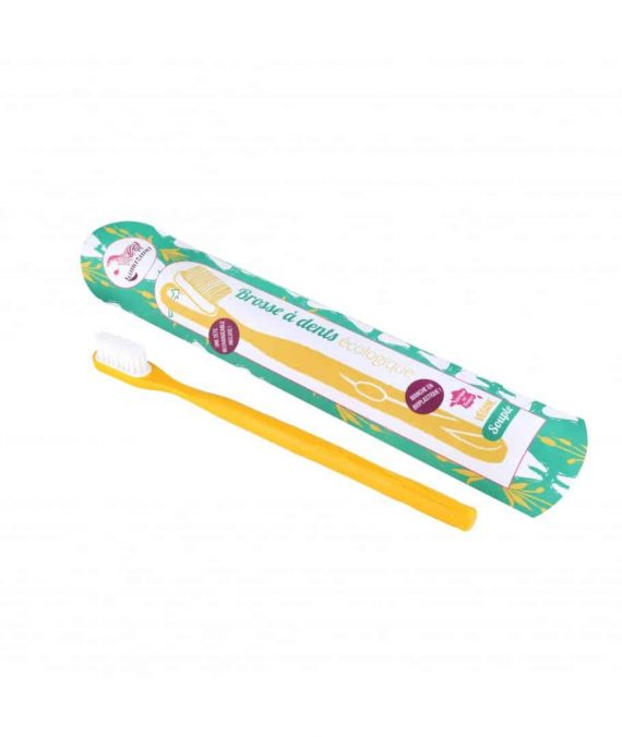 brosse a dents rechargeable jaune