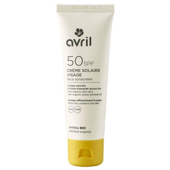 Crème solaire Visage SPF 50 - AVRIL