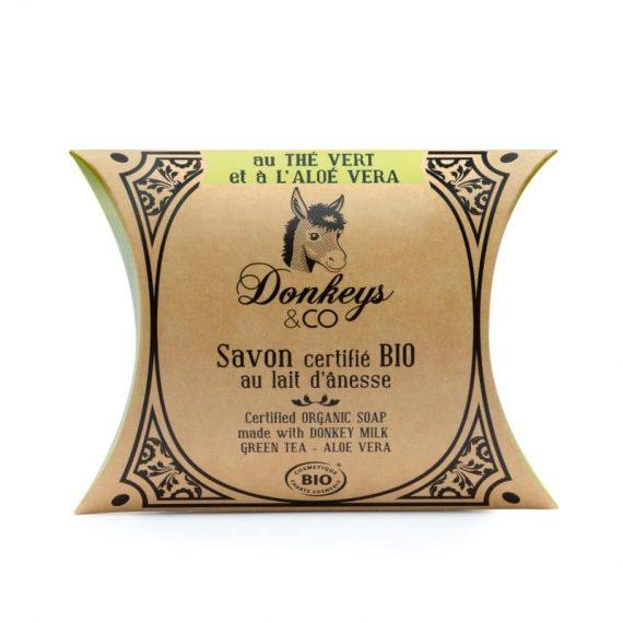 Savon au lait d'annesse au thé Vert et Aloé Vera - DONKEYS & CO