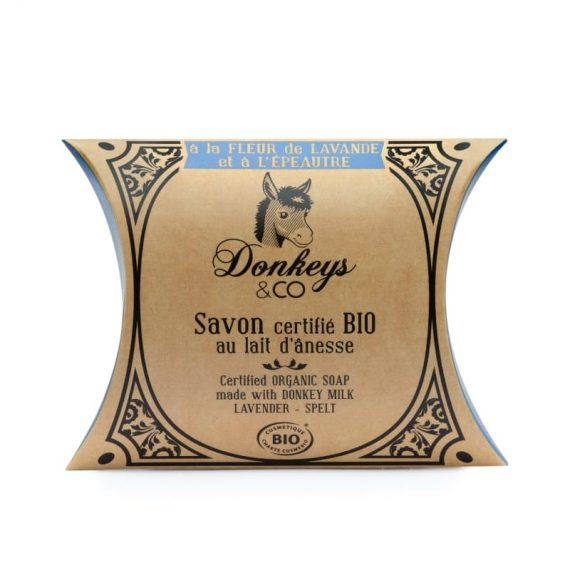 Savon au lait d'annesse à la fleur de Lavande et à l'Epeautre - DONKEY & CO