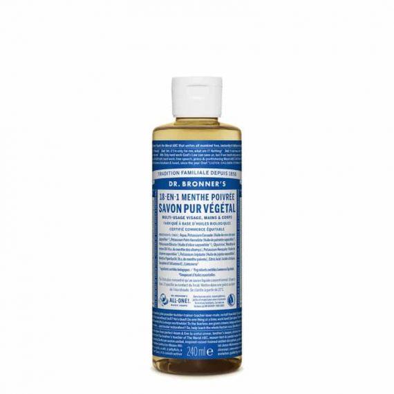 18-en-1 Savon Liquide Menthe poivré 240ml - Dr Bronner's
