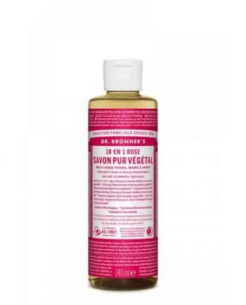 18-en-1 Savon Liquide à la Rose 240ml - Dr Bronner's