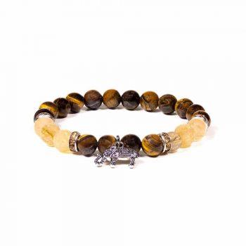 bracelet oeil de tigre quartz rutile