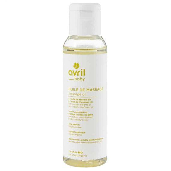 huile de massage bebe certifiee bio