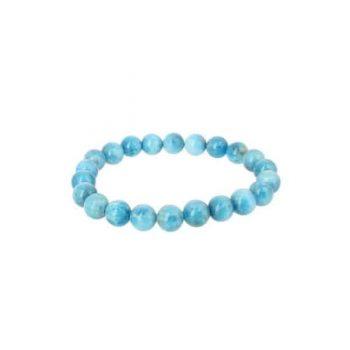 bracelet apatite bleue clair