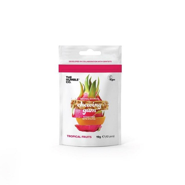 natural chewing gum tropical fruit
