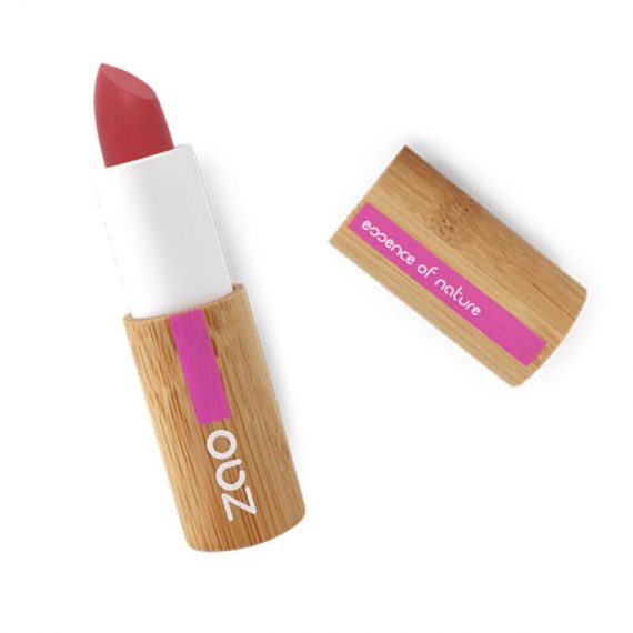 rouge a levre soft touche rouge grenat zao box evidence