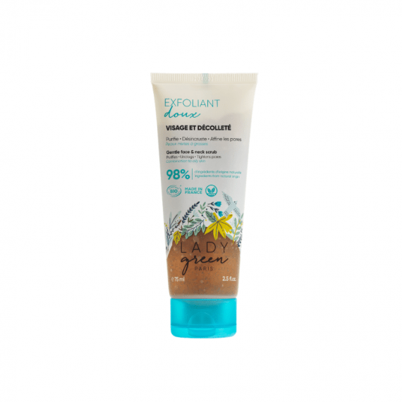 exfoliant visage lady green