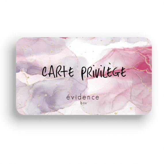Carte Privilège Box évidence