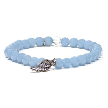 bracelet angelite breloque aile