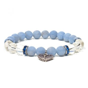 bracelet angelite cristal de roche