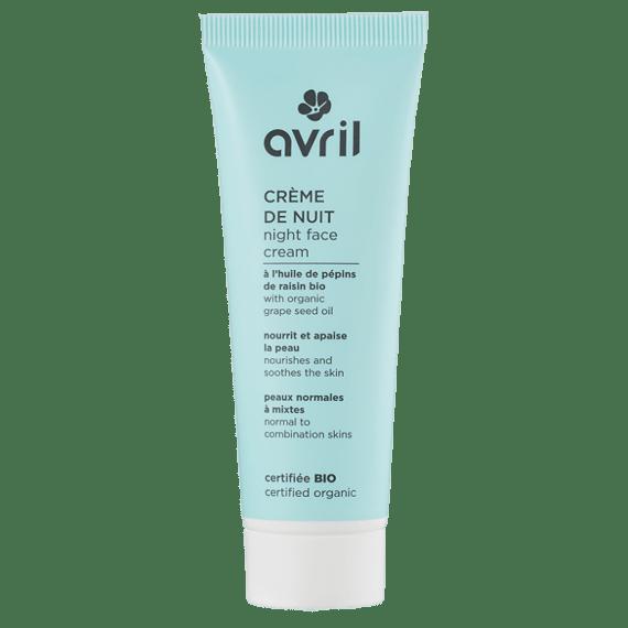 creme de nuit bio peaux normales mixtes avril