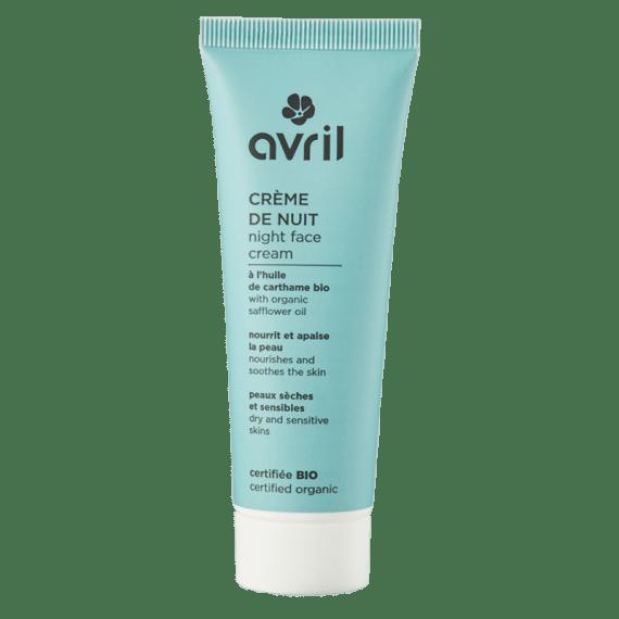 creme nuit bio peau seche peau sensible avril