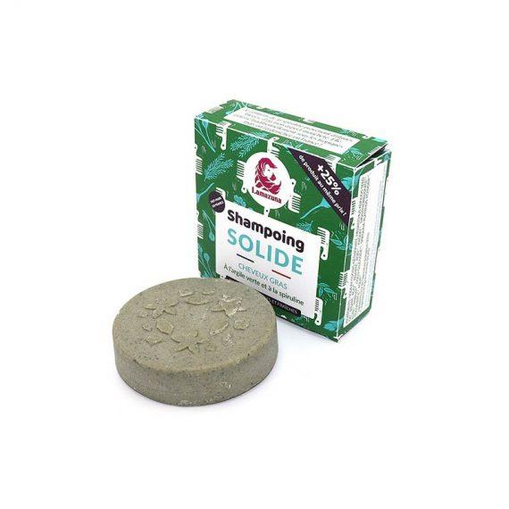 shampoing solide palet cheveux gras spiruline argile verte lamazuna box evidence