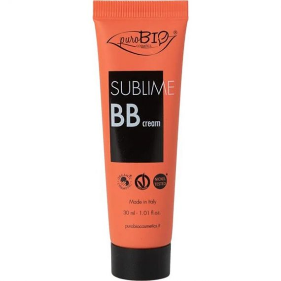 bb creme sublime purobio cosmetics box evidence
