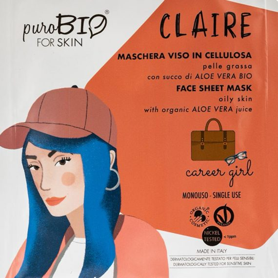 masque claire career girl peau grasse purobio box evidence