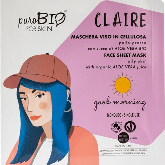 masque claire peau grasse good morning purobio box evidence