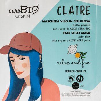 masque claire relax and fun peau grasse purobio box evidence
