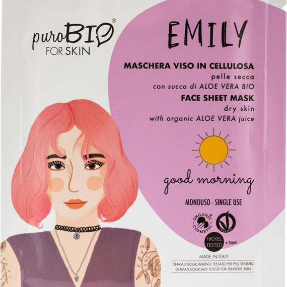 masque emily peau seche good morning purobio box evidence