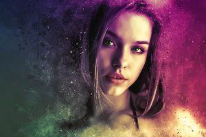 rajeunissement portrait femme coloré