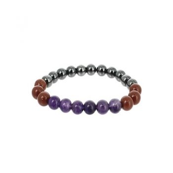 bracelet belier amethyste hematite jaspe rouge