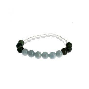 bracelet gemeaux agate mousse aigue marine cristal de roche box evidence