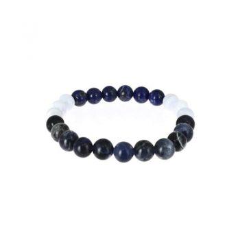 bracelet sagittaire calcédoine bleue lapis lazuli sodalite box evidence