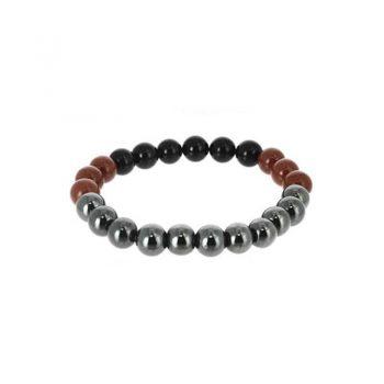 bracelet scorpion hematite jaspe rouge tourmaline noire box evidence